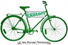 Vihreä Eko polkupyörä yrityskuva