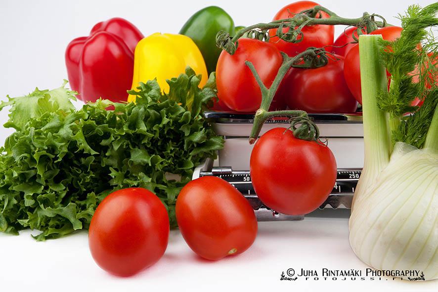 Tuoreita terveellisiä vihanneksia tuotekuva